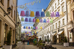 The Festival Easter in Moscow , the decoration in Stoleshnikov pereulok, Royalty Free Stock Photo