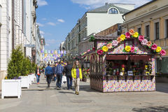 The Festival Easter in Moscow , the decoration in Stoleshnikov pereulok Royalty Free Stock Image