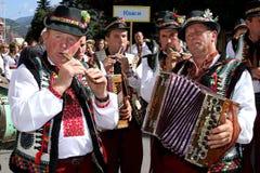 Festival-eerlijke Hutsul-kaas Stock Afbeelding