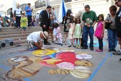 Festival el 19 de junio de 2011 de la tiza de Pasadena Fotos de archivo libres de regalías
