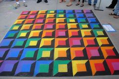 Festival el 19 de junio de 2011 de la tiza de Pasadena Foto de archivo libre de regalías