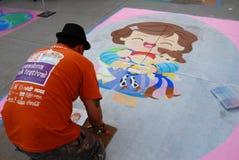 Festival el 19 de junio de 2011 de la tiza de Pasadena Imagen de archivo