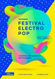 Festival electro pop. Poster with vibrant gradient shape. Template for club party flyer. Vector illustration Royalty Free Stock Photography