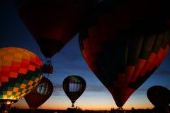 Festival em Pereslavl-Zalessky, voo dos balões de ar quente da noite de Yaroslavl Oblast no 16 de julho de 2016 Foto de Stock Royalty Free