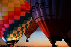 Festival em Pereslavl-Zalessky, voo dos balões de ar quente da noite de Yaroslavl Oblast no 16 de julho de 2016 Imagens de Stock Royalty Free