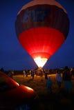 Festival em Pereslavl-Zalessky, voo dos balões de ar quente da noite de Yaroslavl Oblast no 16 de julho de 2016 Fotografia de Stock