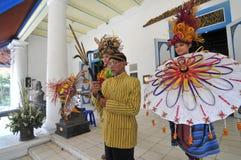 Festival en bambou en Indonésie Photographie stock libre de droits