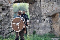Festival en el castillo de Chortkiv imagen de archivo libre de regalías