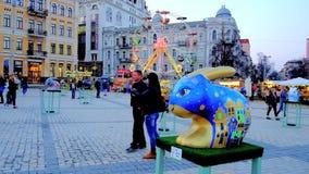 Festival en Kiev, Ucrania almacen de video