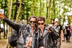 Festival en métal de Hellfest, couple de metalheads Photo stock