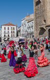 Festival Espagne de danse de flamenco des femmes et des enfants Photographie stock libre de droits