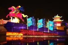 Festival et temple de lanterne chinois de l'an 2013 neuf justes Photos stock