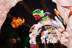 Festival et temple de lanterne chinois de l'an 2013 neuf justes Image stock