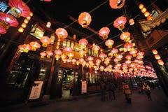 Festival et temple de lanterne chinois de l'an 2013 neuf justes Images stock