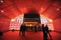 Festival et temple de lanterne chinois de l'an 2013 neuf justes Images libres de droits