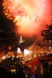 Festival europeo dei fuochi d'artificio immagini stock libere da diritti