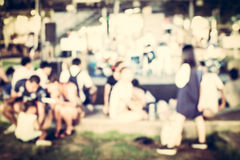 Festival event with blurred people Royalty Free Stock Photography