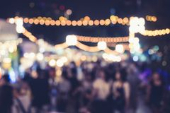 Festival Event Party with People Blurred Background Royalty Free Stock Image