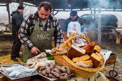 Festival för öppen luft för International gastronomisk av slaktare i trans. royaltyfri fotografi