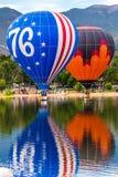 Festival för ballong för varm luft - årlig Liftoff för arbets- dag i Colorado Springs Arkivbild