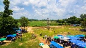 Festival för bullesmällFai raket Arkivbilder