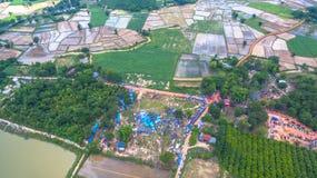 Festival för bullesmällFai raket Arkivfoto