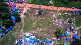 Festival för bullesmällFai raket Arkivfoton