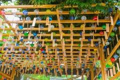 Festival för Chime för Kawagoe Hikawa relikskrinvind Fotografering för Bildbyråer