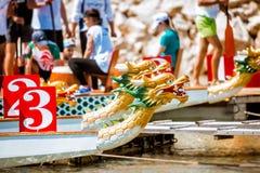 Festival för drakefartyg arkivbild