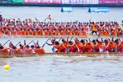 Festival för drakefartyg i Guangzhou Kina Arkivbilder