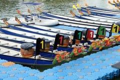 Festival för drakefartyg på den Singapore floden Arkivfoton