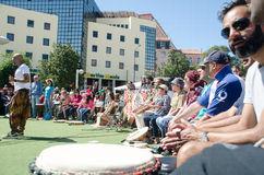 Festival för hundra valsar på arbetardag Arkivbild