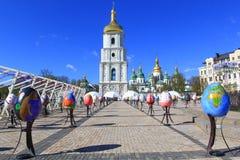 Festival för påskägg i Kiev, Ukraina Arkivfoto