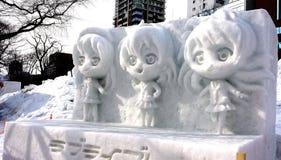 Festival för Sapporo snö Arkivbild