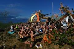 Festival för sol- förmörkelse Fotografering för Bildbyråer