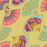Festival fans background. Eastern bright festival fans background Royalty Free Stock Photography