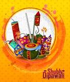 Festival feliz de la luz de Diwali del fondo del saludo de la India