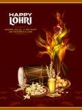 Festival feliz de Lohri del fondo de Punjab la India stock de ilustración