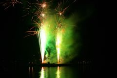 Festival of fireworks Stock Photography