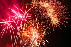 Festival of fireworks royalty free stock photography