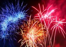 Festival of fireworks stock photo