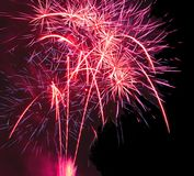 Festival of fireworks royalty free stock photo