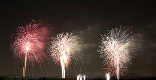 Festival fireworks burst in midair background. Wonderful festival fireworks show , TX USA stock photos