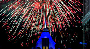 Festival, fireworks, the day the city of Astana Royalty Free Stock Images