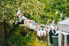 festival-flags-garden-party Royalty Free Stock Images