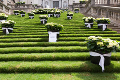 Festival of floral decorations in Girona Stock Photo