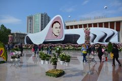 Festival of flowers in the Baku city, Azerbaijan Stock Images