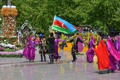 Festival of flowers in the Baku city, Azerbaijan Royalty Free Stock Photo