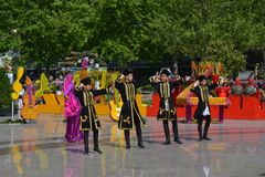 Festival of flowers in the Baku city, Azerbaijan Royalty Free Stock Photography