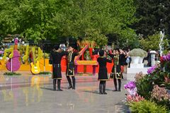 Festival of flowers in the Baku city, Azerbaijan Royalty Free Stock Photos